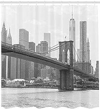 New York Shower Curtain Brooklyn Bridge USA Print