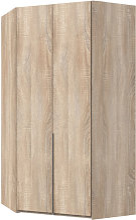 New York Tall Wooden Corner Wardrobe In Oak