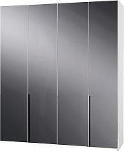 New Zork Tall Wardrobe In Gloss Grey And White 4