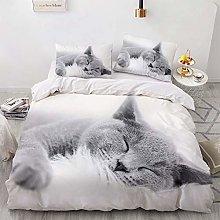 NEWAT 3D Animal Print Warm Bedding Set, Duvet