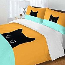 NEWAT 3D Cat Pattern Bedding Set, Zip Closure