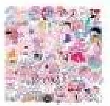 Newchic 100Pcs Pink Series Graffiti Sticker Decals Vinyls For Laptop Kids Cars Motorcycle Bicycle Skateboard