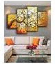 Newchic 4PCS Golden Tree Modern Abstract Art Oil