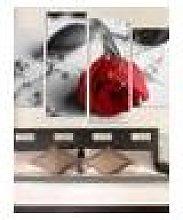 Newchic 4Pcs Rose Flower Canvas Painting Print