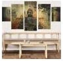 Newchic Frameless Huge Buddha Abstract Canvas Oil