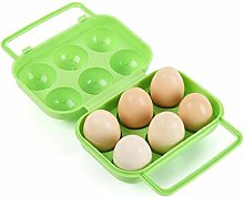 [Newest 2019] Portable 6 Eggs Plastic Container