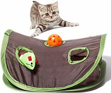 Newest Pet Cat Toys - Cat Tunnel Mice Bell Tent