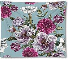 Newest Polyester Customize Flowers Print Beach Mat