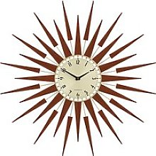 Newgate Clocks Pluto Wall Clock, Dia.65cm, Brown