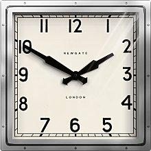 Newgate Clocks Quad Wall Clock, Dia.40cm, Silver