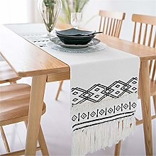 Newisher Black and White Bohemian Cotton Handmade