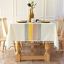 Newisher Rectangle 4 Seats Tablecloth Cotton Linen