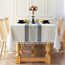 Newisher Rectangle 6 Seats Tablecloth Cotton Linen
