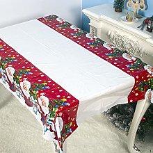 NEWLUK Christmas Decoration PVC Tablecloth