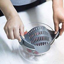 Newly Kitchen Strain Strainer Clip On Silicone