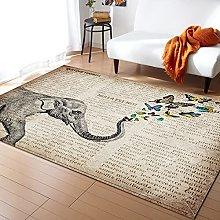 Newspaper Elephant Carpet for Living Room