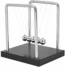 Newtons Cradle Balance Balls with Wooden Base, 5