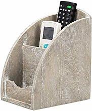 NEX Remote Control Holder, 3 Slot Wooden Remote