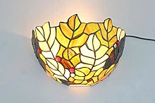 NEXFAN 12 Inch Vintage Pastoral Stained Glass