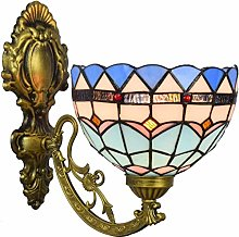NEXFAN Tiffany Lamp 8 Inch British Stained Glass