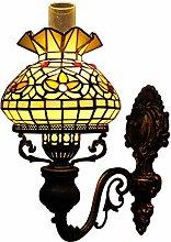 NEXFAN Vintage Tiffany Style Oil-lamp-shaped Wall