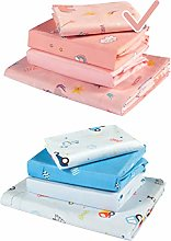 Next to Me Baby Crib Sheets 4 Pcs: 2 Fitted 1 Top