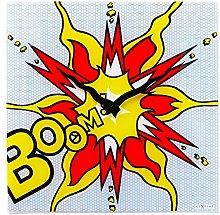 NexTime Boom Wall Clock, Multi/Coloured, 43 x 2 x