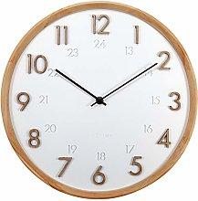 NeXtime Jikan Wall Clock Concrete / Wood 28.5 cm
