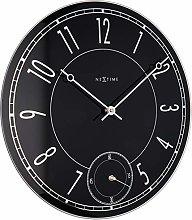 NexTime Leitbring Wall Clock, Black, 43 x 4.3 x 43