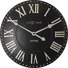 NexTime London Roman Wall Clock, Black, 34 x 5 x