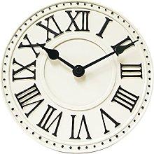 NexTime London Table Clock, White, 16.5 x 6 x 16.5