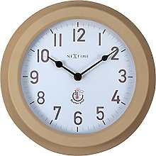 NeXtime Outdoor Clock, Metal, Brown