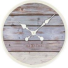 NexTime Plank Wall Clock, Wood, Grey, 50 x 6 x 50