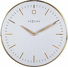NeXtime - Wall clock – Ø 30cm - Metal & Glass -