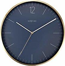 NexTime Wall Clock-Ø 34 cm-Glass/Metal-Vintage