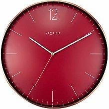NexTime Wall Clock – Ø 40cm-Metal & Glass-Red &
