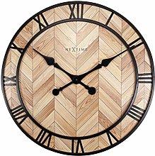 NexTime Wall Clock-Ø 58cm Metal-Light