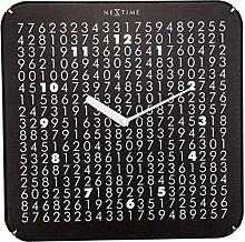 NexTime Wall Clock, Black, 35 x 35