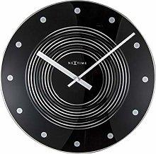 NexTime Wall Clock, Black, 35