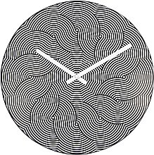 NexTime Wall Clock, Black, 39.5