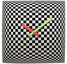 NexTime Wall Clock, Black, 43 x 43