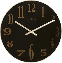 NexTime Wall Clock, Black, 43