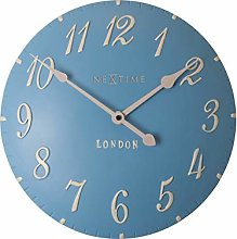 NexTime Wall Clock, Blue, 34