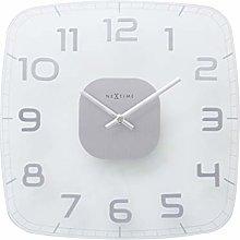 NexTime Wall Clock, Clear Glass, 30 x 30