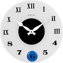 NexTime Wall Clock, Frosted, 35