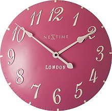 NexTime Wall Clock, Pink, 34