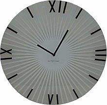 NexTime Wall Clock, White, 43