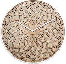 NexTime Wall Clock, Wood, Beige, 50