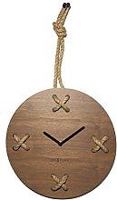 NexTime Wall clock, Wood, Brown, 57 x 32