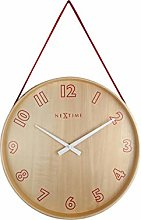 NexTime Wall Clock, Wood, Red, 26